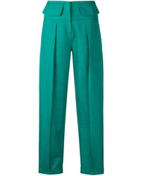 Victoria, Victoria Beckham Tailored High-waisted Pants - Green