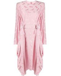 Stella McCartney ジャカード ドレス - ピンク