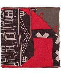 Bernhard Willhelm Printed Scarf - Brown
