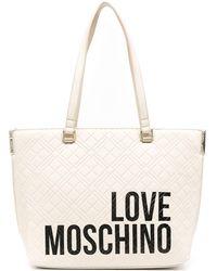 Love Moschino - ロゴ ハンドバッグ - Lyst