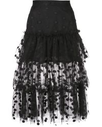 Jill Stuart Frill Layered Skirt - Black
