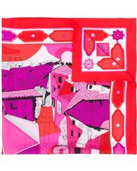 Emilio Pucci Sjaal Met Print Van Florence - Rood