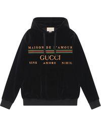 Gucci Худи С Вышитым Логотипом - Черный