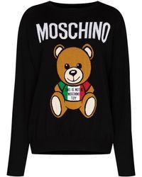 Moschino Джемпер Italian Teddy Bear - Черный
