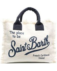 Mc2 Saint Barth Vanity Fringed Tote Bag - Blue