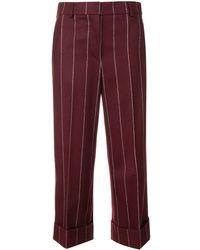 Thom Browne Pantaloni Shadow Stripe Flannel Sack - Rosso