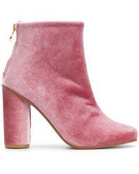 Stine Goya - Velvet Ankle Boots - Lyst