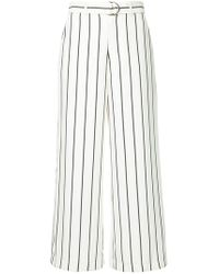 Guild Prime | Belted Striped Trousers | Lyst