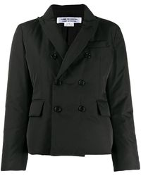 Comme des Garçons Double-breasted Padded Blazer - ブラック