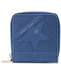 Golden Goose Deluxe Brand Star Motif Zip-around Wallet - Blue