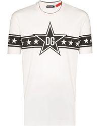 """Dolce & Gabbana T-Shirt mit """"DG Sterne""""-Print - Weiß"""