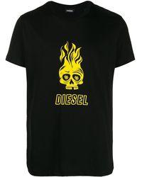 DIESEL - スカルプリント Tシャツ - Lyst