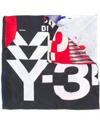 Y-3 Graphic-print Silk Scarf - Multicolor