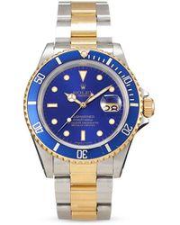 Rolex 1989 pre-owned Submariner Date 40mm - Blau