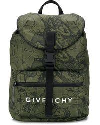 Givenchy プリント バックパック - グリーン