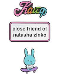 Natasha Zinko Three-pack Pin Set - White
