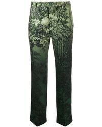 F.R.S For Restless Sleepers Low rise printed trousers - Verde