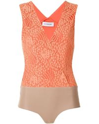 Olympiah Body Petale con encaje - Naranja