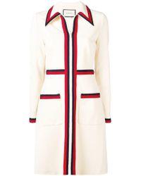 Gucci - Classic Striped Day Dress - Lyst