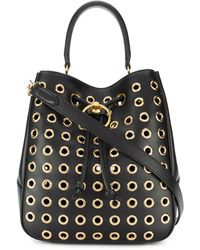 Mulberry Eyelet Bucket Bag - Black