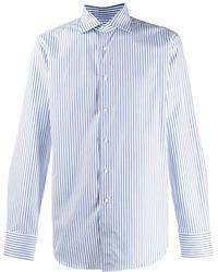 Canali ストライプ シャツ - ブルー