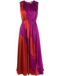 ROKSANDA Vestido Cora con diseño colour-block - Rojo
