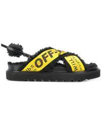 Off-White c/o Virgil Abloh - Logo Strapped Sandals - Lyst