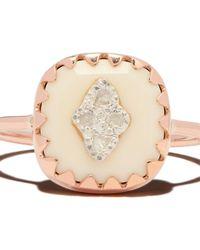 Pascale Monvoisin Pierrot No. 2 ダイヤモンド リング 9kローズゴールド - ナチュラル