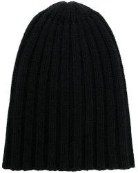 Laneus Rib Knit Beanie - Black