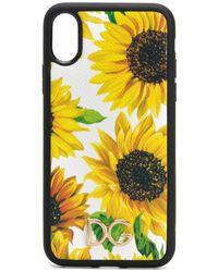 Dolce & Gabbana Iphone X Hoesje Met Bloemenprint - Geel