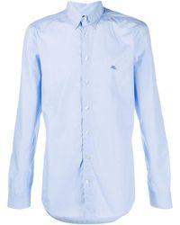 Etro - Рубашка С Вышитым Логотипом - Lyst