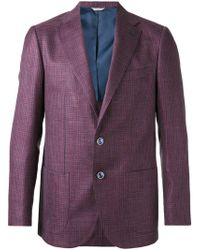 Fashion Clinic - Houndstooth Pattern Blazer - Lyst