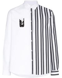 KENZO Striped mermaid print shirt - Blanc