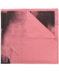 CALVIN KLEIN 205W39NYC - X Andy Warhol Paint-like Printed Scarf - Lyst