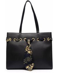 Versace Jeans Couture バロックスカーフ ハンドバッグ - ブラック