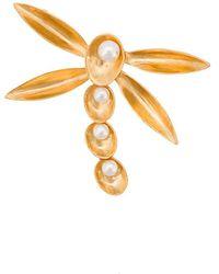 Oscar de la Renta - Pearl Shell Brooch - Lyst
