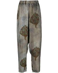 Uma Wang Pantalon court imprimé - Vert