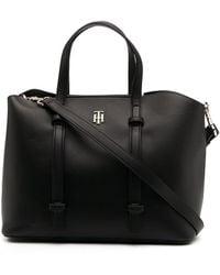 Tommy Hilfiger Th Seasonal Tote Bag - Black