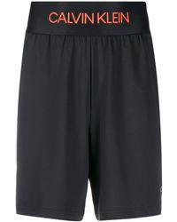 Calvin Klein Logo Waistband Track Shorts - Black