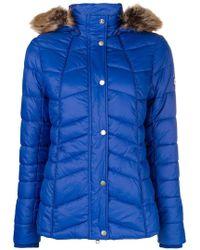 Barbour - Fur Hood Trim Jacket - Lyst