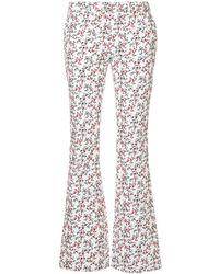 Calvin Klein Floral Print Corduroy Pants - ホワイト