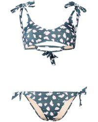 Emmanuela Swimwear - Lulu Pencil Shaving Print Bikini - Lyst