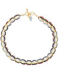 Diane von Furstenberg - Striped Beaded Necklace - Lyst
