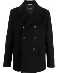 Versace メドゥーサ ダブルコート - ブラック