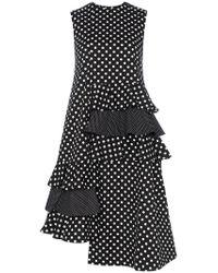 Paskal - Polka Dot Ruffle Detail Cotton Dress - Lyst