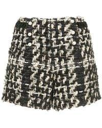 Edward Achour Paris Pearl Tweed Shorts - Black