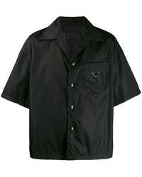 Prada - Overhemd Met Logo Plakkaat - Lyst