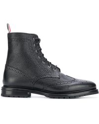 Thom Browne Classic Wingtip Boots - Black