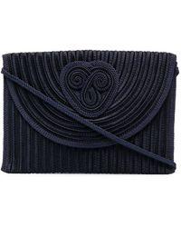 Nina Ricci Pre-owned Braided Clutch Bag - Blue