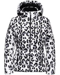 Aztech Mountain Nuke Leopard-print Hooded Jacket - White
